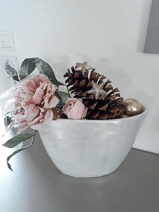 Composition fleurs givrées
