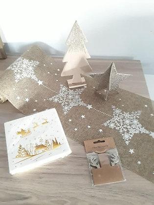 Pack  7 - Noël constellation Lin foncé & étoiles blanches