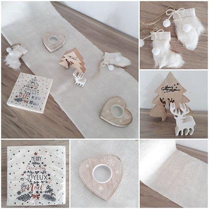 Pack 15 - Noël blanc magique  / Fourrure &  bois