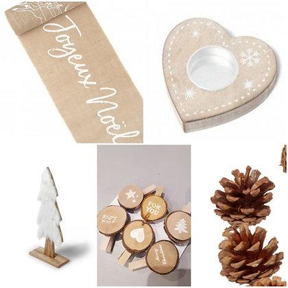 Pack 6 - Noël naturel traineau Jute