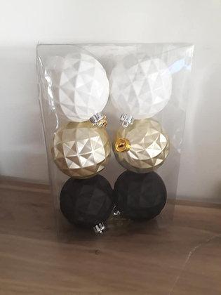 Boules de noël blanc/ noir / doré