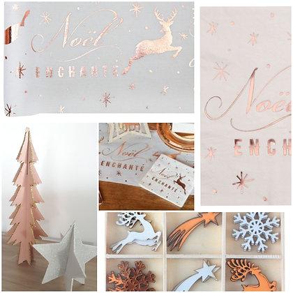 Pack 2 - Noël enchanté - Lin & rose gold