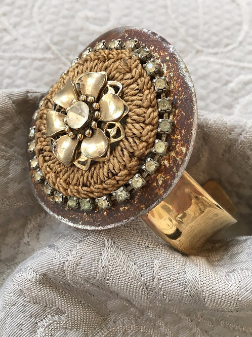 Recycled Gold Toned Cuff