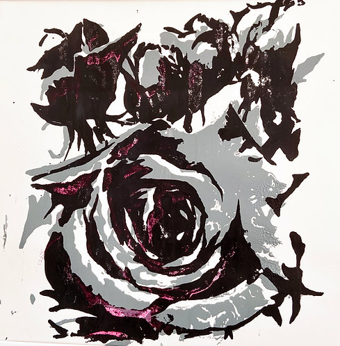grey rose bud