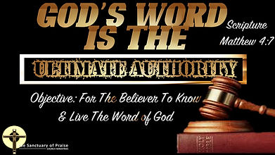 Updated God's Word is the Ultimate Autho