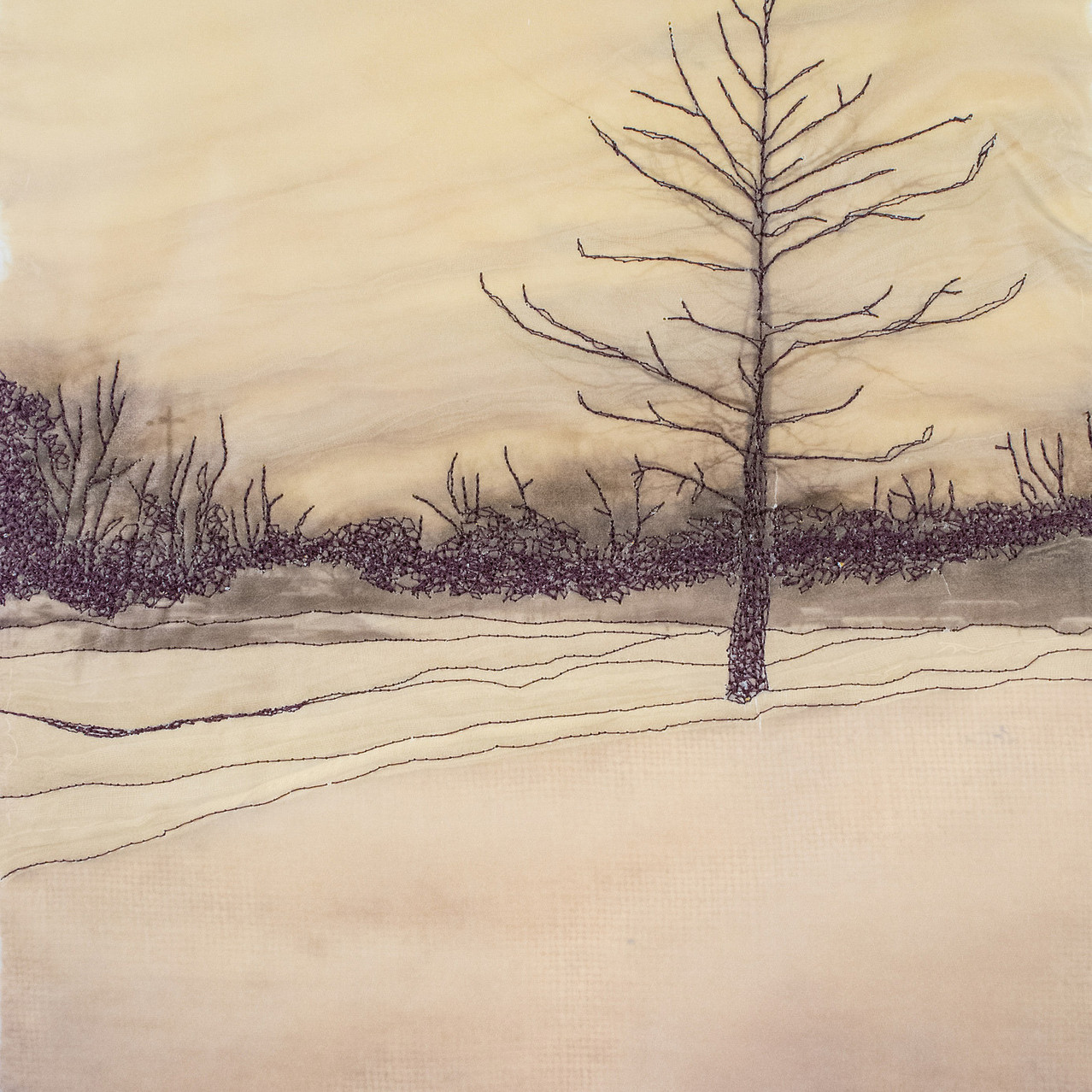 Winter trees (ochre veil)