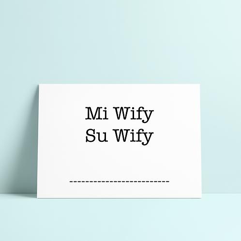 Mi wify, su wify - Appendi muro