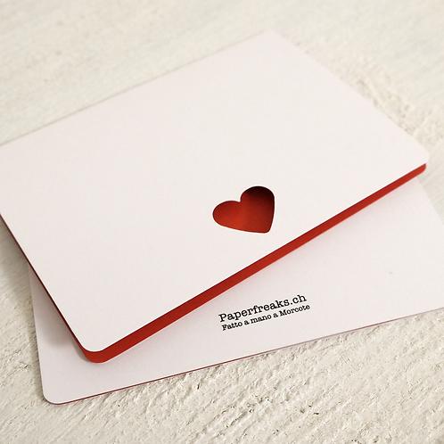HEART - Biglietto di auguri fustellato