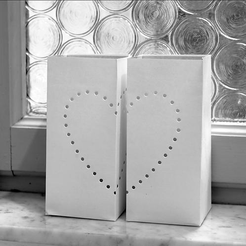 ♥ 2 CUORI ♥ - Set paralume di carta