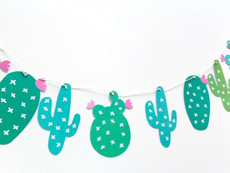 Ghirlanda di cactus da stampare e appendere in giro!