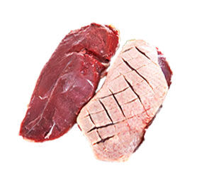 Plain duck breasts