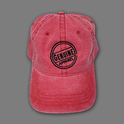 Red Jean Stamp Hat