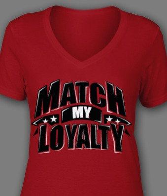 Ladies Red/Blk/Wht Loyalty Tee