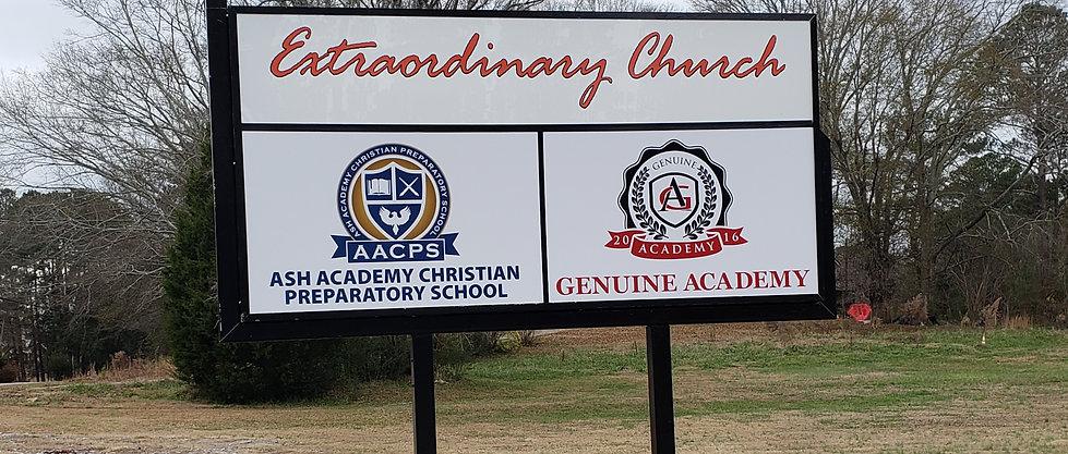 Genuine Academy School Sign