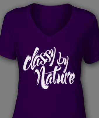 """Ladies """"Classy By Nature"""" Tee"""