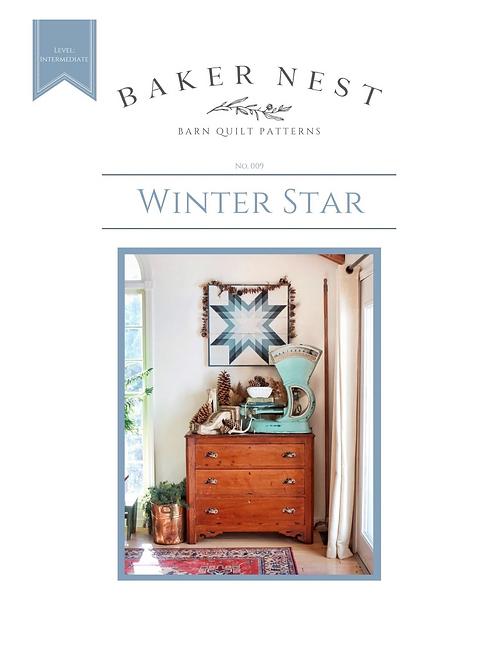 Winter Star  Barn Quilt Pattern DIY KIT