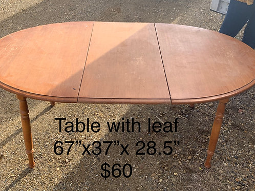 Table with Leaf - As Is