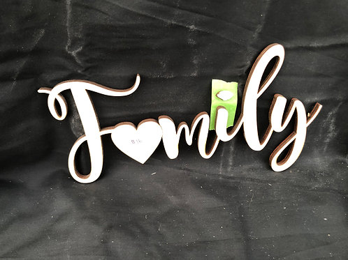 Family with Heart DIY Cutout