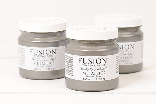 Fusion Mineral Paint Metallics - Brushed Steel
