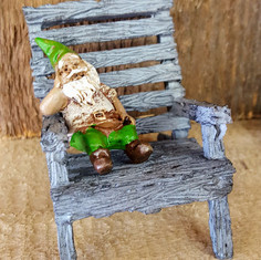Iggy the Gnome on Chair