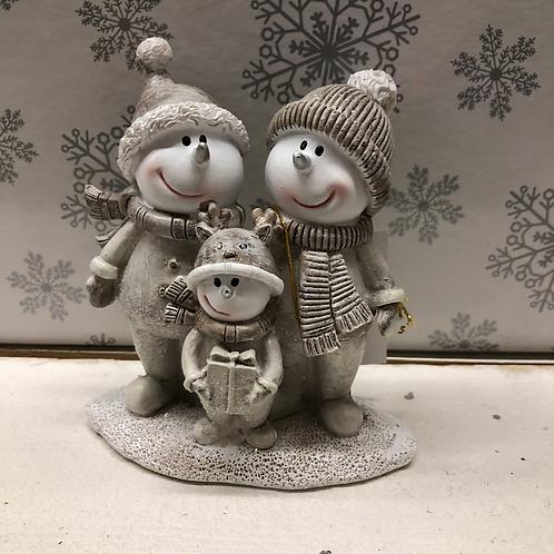 Snowman Family Figurine