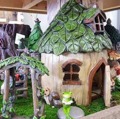 Fairy Garden House, Frog & Arch
