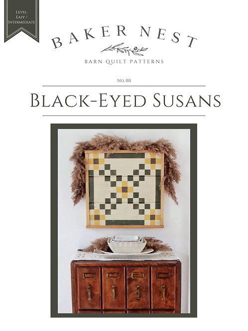 Black-Eyed Susans Barn Quilt Pattern DIY KIT