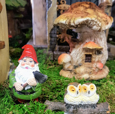 Fairy Garden House, Gnome & Owls
