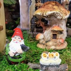Fairy Garden House, Gnome & Owls