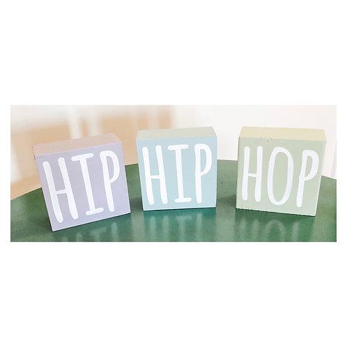 HIP HIP HOP Set of 3