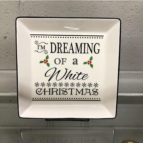 White Christmas Plate