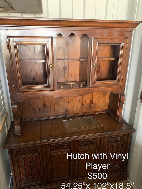 Hutch with Vinyl Player- As Is