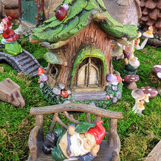 Fairy Garden Solar House, Gnome, Bench and many more!