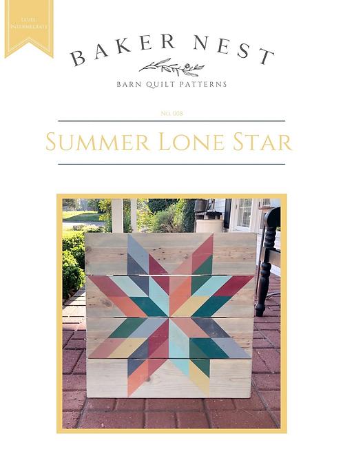 Summer Lone Star Baker Nest Barn Quilt Pattern Book