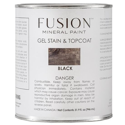 Brush on Gel Stain & Top Coat - Black
