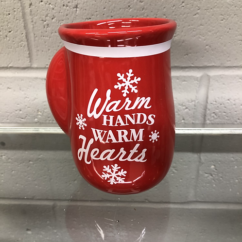 Warm hands warm hearts mug