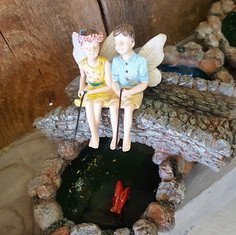 Fairy Garden Fisher Friends & Koi Pond