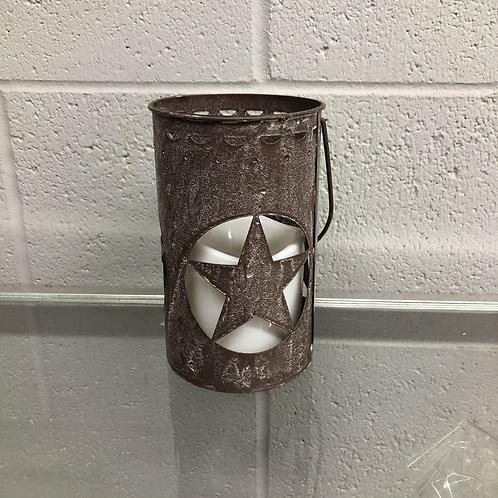 Rustic star LED lantern