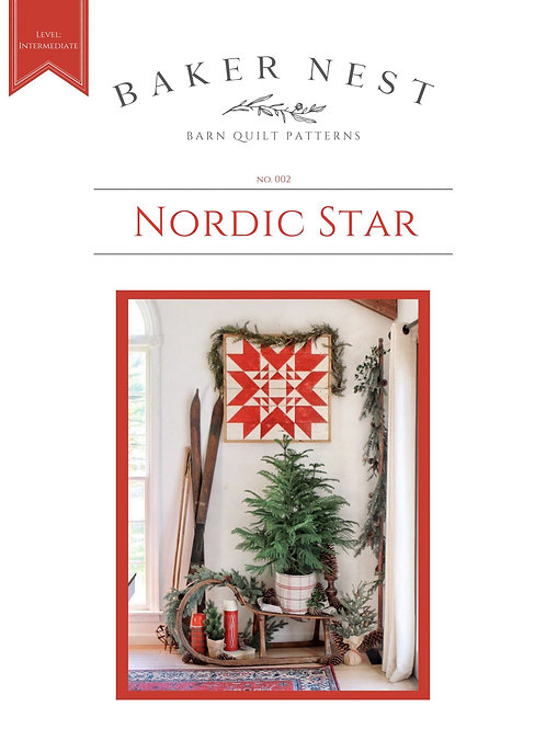 Nordic Star Barn Quilt Pattern DIY KIT