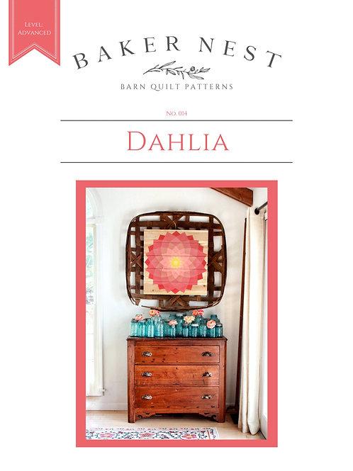 Dahlia Barn Quilt Pattern DIY