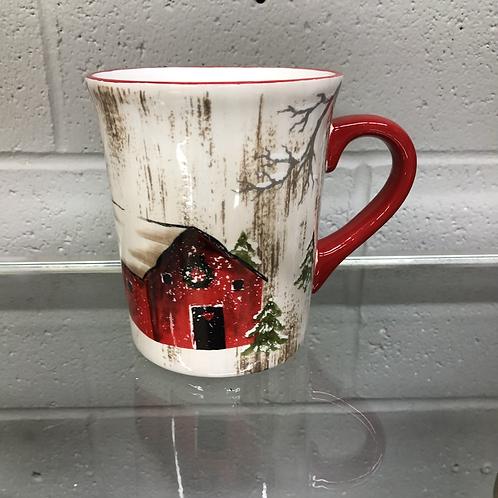 Barn/Cardinal Mug