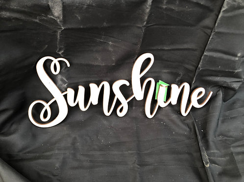 Sunshine DIY Cutout
