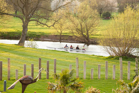 Rowers on the Avon near Daisy Lodge