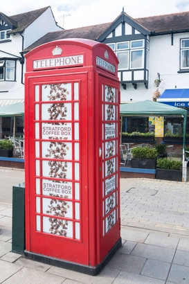 Stratford upon Avon quirky telephone box