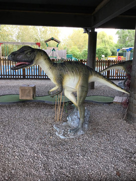 Dinosaur crazy golf at Daisy Lodge