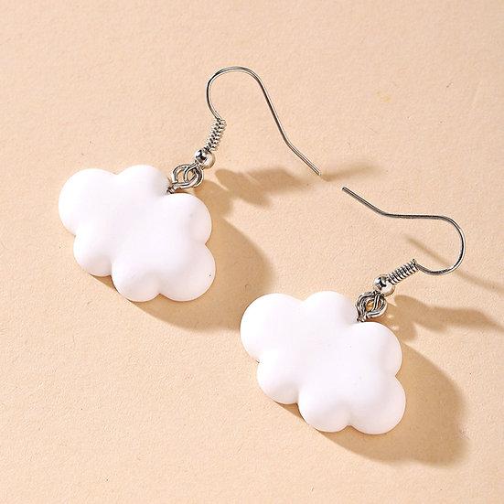 Cute White Cloud  Earrings