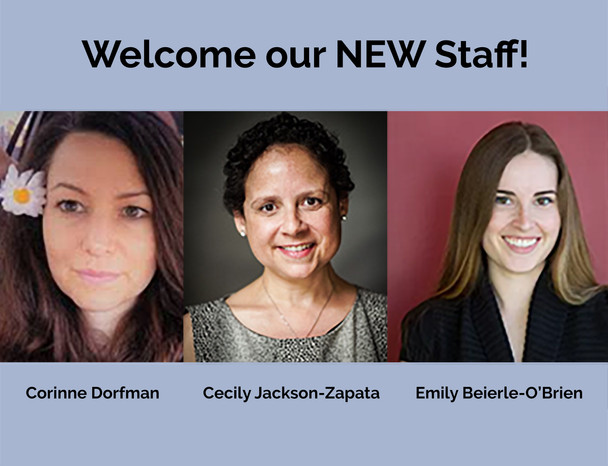 Welcome our new CHERP Staff! Corinne, Cecily, Emily