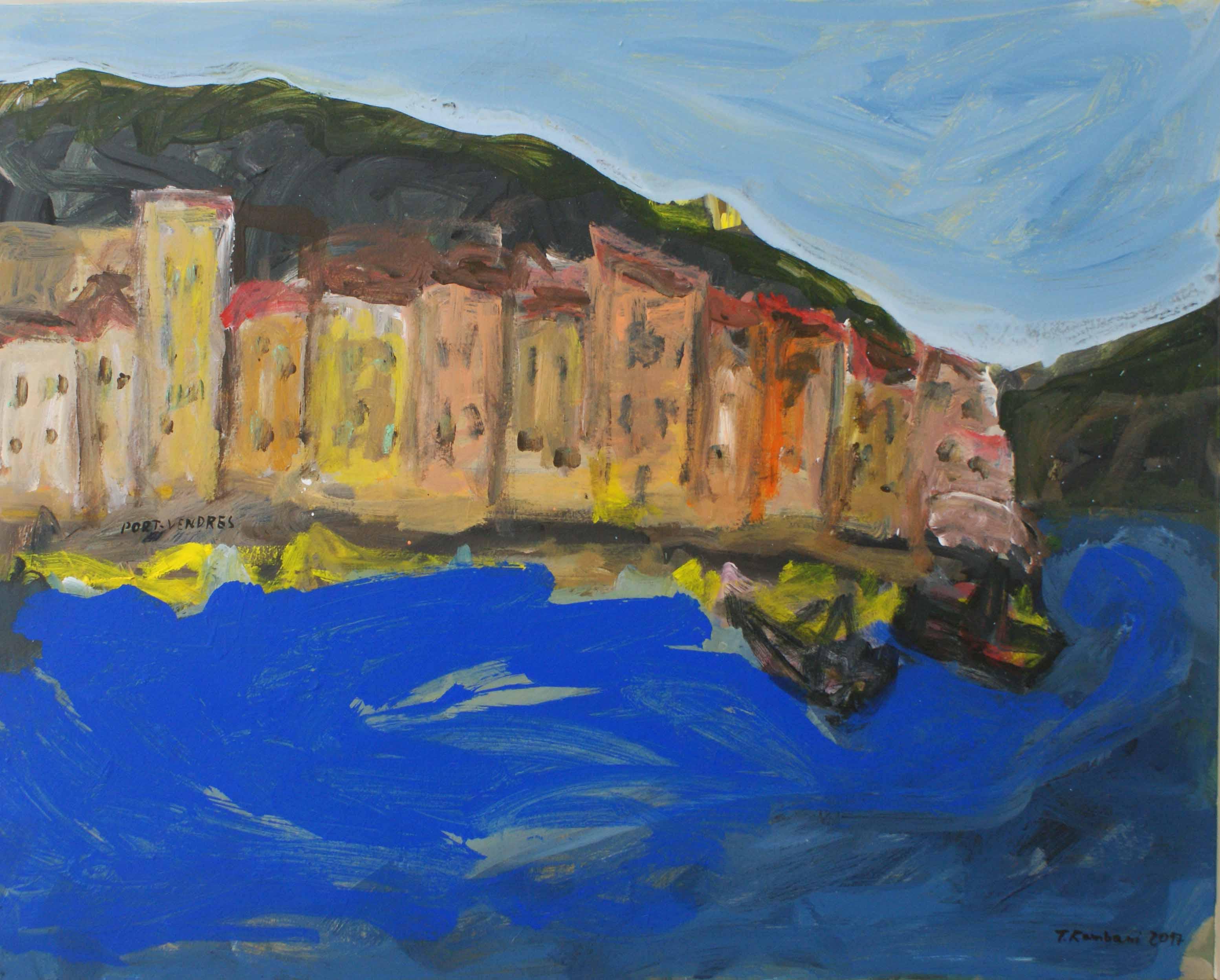 Port Vendres en action, 100x80cm, Acrylique, 2017 sm