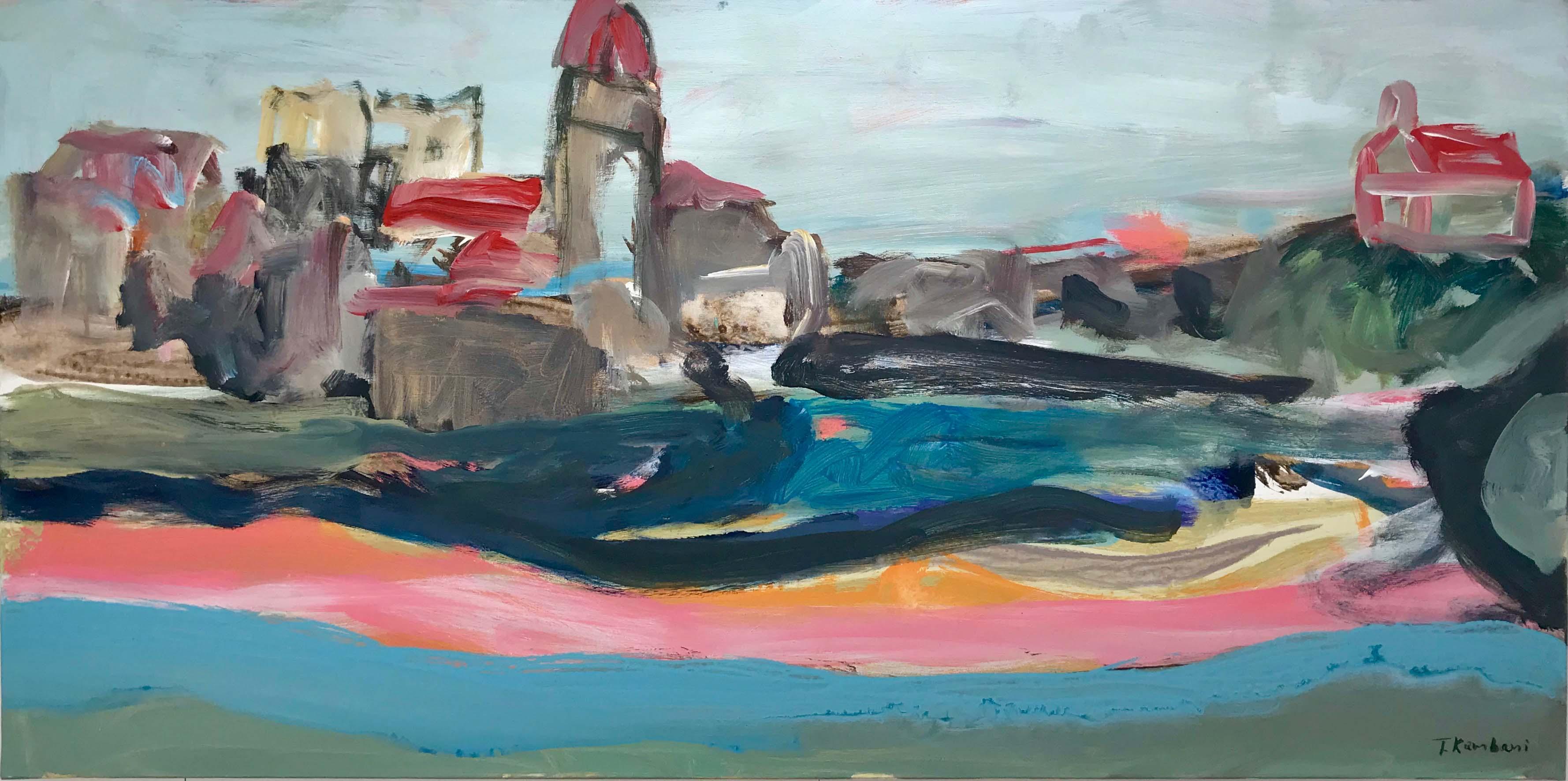 Collioure, 60x120cm, acrylique sur toile, 2017 sm