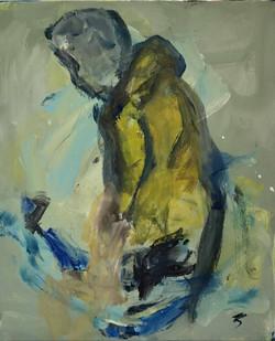Pecheur, 55x46cm,acrylique sur toile, 2017